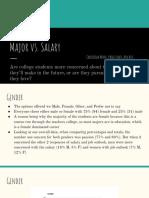 a4- major vs  salary presentation