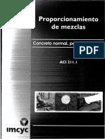 ACI 211.1 - Proporcionamiento de Mezclas