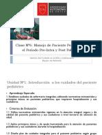 Pre-Intra-post Pabellon enfermeria pediatrica