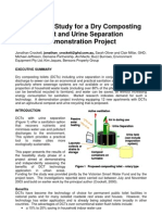Feasibility Study for a Dry Composting Toilet and Urine Separation