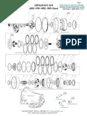 Tcs 518 618 46 47rh 48re Transmission Schematic Parts Nov2012 1 Clutch Transmission Mechanics