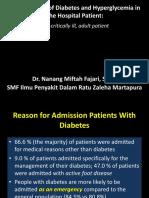 Insulin in Hospital-Non ICU Setting