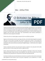 O Estudo Da Bíblia – Arthur Pink _ Projeto Castelo Forte