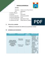 Secion Sistemas de Ecuaciones Informe