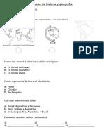 Prueba de Historia, Ubicacion Geografica