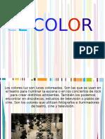 Los colores luz son luces coloreadas. Son las que se usan en el teatro para iluminar la escena o en los conciertos de rock para crear distintos.pdf