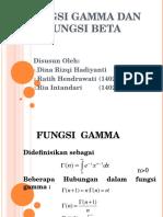 Fungsi Gamma Dan Beta
