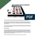 Apple iPad Tablet Could Slay eBook & Notebook
