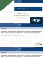 Sistemas Lineares LU