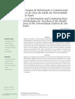 Uso das Tecnologias de Informação e Comunicação por Professores da Área da Saúde da UNIFESP