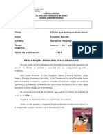 Análisis Literario El Niño Que Enloqueció de Amor