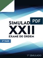 1o Simulado OAB de Bolso D. Constitucional - 2a Fase XXII Exame de Ordem