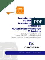 Transformadores Autotransformadores Aislamiento Monofasicos Trifasicos Isolating Single Three Phase Transformers Autotransformers Control