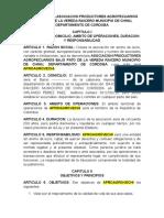 ESTATUTO DE LA ASOCIACION PRODUCTORES AGROPECUARIOS BAJO PATO DE LA VEREDA RAICERO MUNICIPIO DE CHINU, DEPARTAMENTO DE CORDOBA