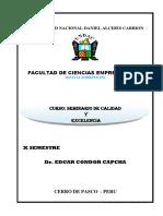 CALIDAD Y EXCELENCIA Material Didactico Para Clase