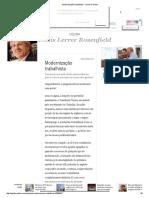 Modernização Trabalhista - Jornal O Globo