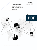 The World Bank - Higher Education in Developing Countries ~ Peril & Promise