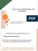 Medida de Cobertura de Testing 2016