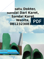 Sepatu Dokter, Sandal Dari Karet, Sandal Karet Wanita, 081232308116