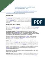 Validación de Cuestionario Para La Medición de La Satisfacción de Los Clientes de La DCI