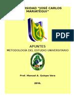 2016-1 Modulo Metodologia Del Estudio Universitario
