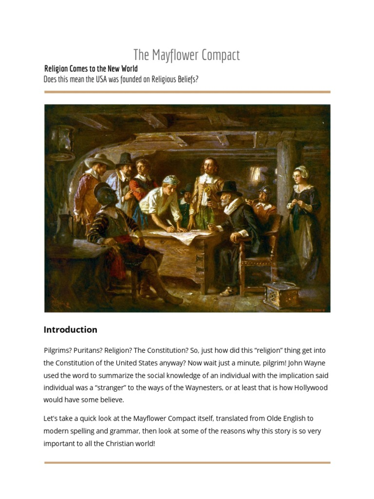 Why and How the Mayflower Compact | Pilgrim Fathers | Protestant