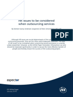 HR Issues to Be Considered When Outsourcing Services