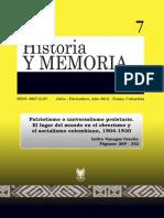 El Obrerismo y El Socialismo Colombiano 1904-1930