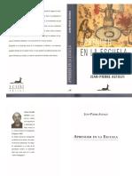 Aprender en La Escuela - Jean Pierre Astolfi