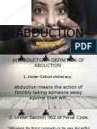 Abduction Law in Malaysia