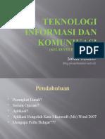 Teknologi Informasi Dan Komunikasi (Kelas VIII Pertemuan 1)