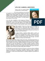 Biografía de Gabriela Brimmer