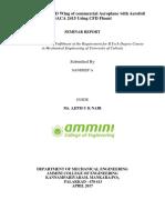 seminar report on aerofoil NACA designation in cfd