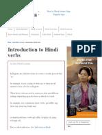 Introduction to Hindi Verbs