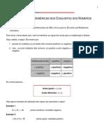 Operações Numéricas Nos Conjuntos Dos Números