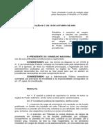 Resolução 07/2015 CNJ