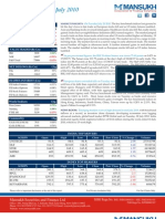 Report on Stock Trading Report by Mansukh Investment & Trading Solutions 21/07/2010