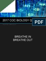 2017 Coc Biology Quiz Bee