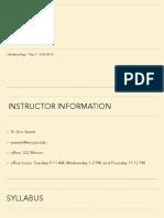 220 - Lecture 1 - D2L