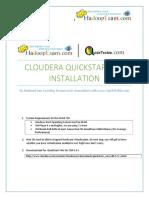 QuickStart VM Cloudera Installation