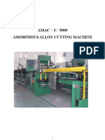 Amorphous Alloy Cutting Machine 20072010