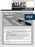 Waste Water Treatment Plants Data sheet