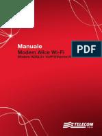Manuale Modem Alice Wi-Fi Modem ADSL2+ VolP/Ethernet/Wi-Fi