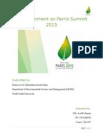 Env107 Paris Summit 2015