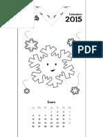 Patchimals Calendar 2015 Start Monday Esp