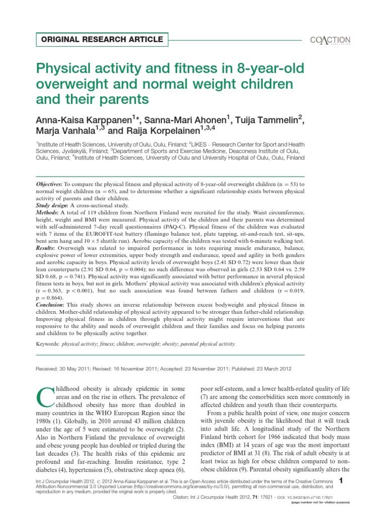 PAQ-C 17621-57308-1-PB | Childhood Obesity | Obesity