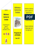 CULTURA   Biblioteca Central de Coslada / Programa de Actividades Mayo 2017