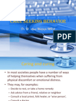 Care Seeking Behaviour