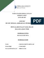 Assignment Amsu5403 (Isu-Isu Semasa Akidah Dan Pemikiran Islam)