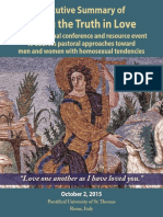 Executive Summary - Rome Conference 2015